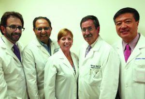 From L- R: Jonathan Kaplan, M.D., Morris Naus, M.D., Andi D'Avanzo ARNP, Michael Blum, M.D. and James Chong, M.D.